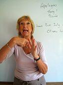 Lipreading Tutor Teaching Finger Spelling