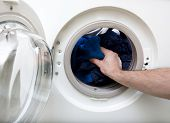 Washing clothes in a front loading washer