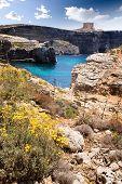 Comino island landscape with