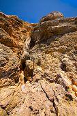 Rock cliffs on the island of Comino, Malta