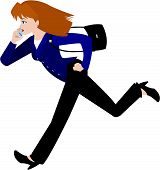 Woman In Business Suit, Running