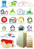 House vector Icons for Web. Construction or Real Estate concept. Abstract color element set of corporate templates. Just place your own name. Collection 20.