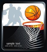 Vector Basketball background with a place for your text. Abstract sport Advertising poster. Illustra