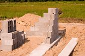 pic of cornerstone  - A strong Block Foundation is the beging of a successful 
