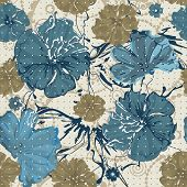 Abstract Elegance seamless floral pattern. Beautiful flowers vector illustration texture.