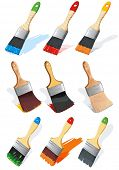 pic of paint brush  - Paintbrush brushing paint - JPG