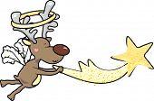 a reindeer caught the falling star