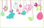 image of happy easter  - hanging easter ornaments - JPG