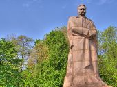 Monument. Lvov. Ukraine. poster