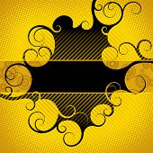 Vector abstract yellow-black background