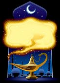 Vector poster with the Aladdin's Magic Lamp