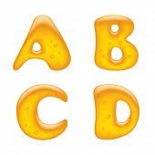 Vector image of alphabet capital letters