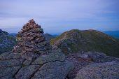 Cairn Marking Franconia Ridge Trail, White Mountains, Nh