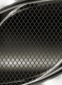 Wire mesh, black background 10eps