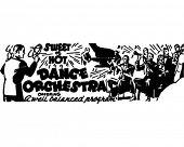 Dance Orchestra - anuncio Retro arte Banner