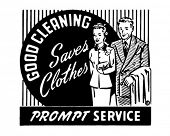 Good Cleaning Saves Clothes 2 - Retro Ad Art Banner