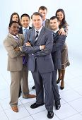 multi ethnic mixed adults corporate business people team