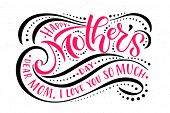 Happy Mothers Day Text As Mothers Day Badge/tag/icon. Text Card/invitation/banner Template. poster