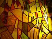 picture of stained glass  - stained glass window - JPG