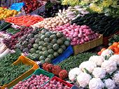 Fresh Assorted Vegetables In Boxes