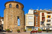 CAMBRILS, SPAIN - FEBRUARY 25: Torre del Port on February 25, 2011 in Cambrils, Spain. This defensiv