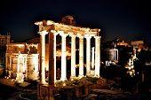 Forum Romanum By Night, Rome