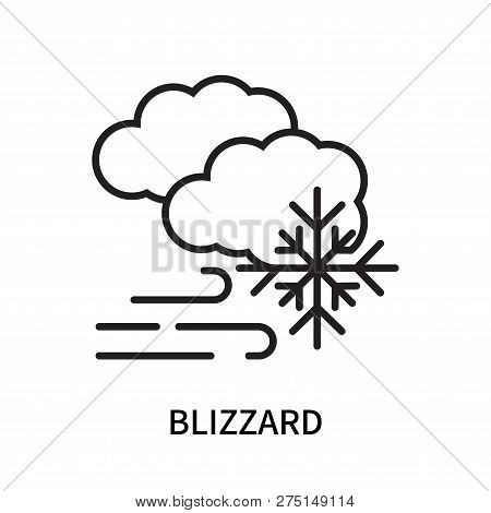Blizzard Icon Isolated On White
