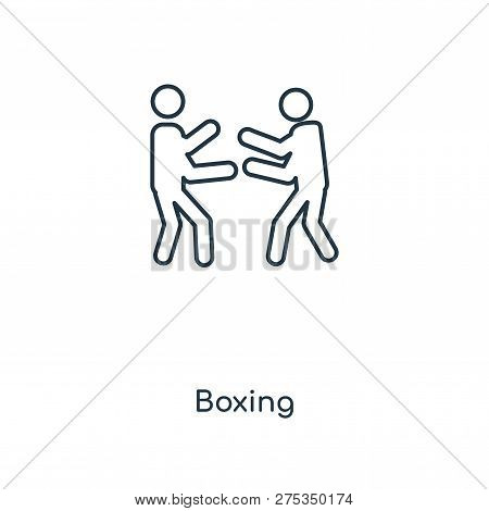Boxing Icon In Trendy Design
