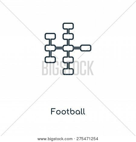 Football Icon In Trendy Design