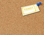 Corkboard With Tack N Ticket