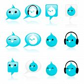 Blue Bird Icons
