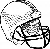 Football helmet sketch