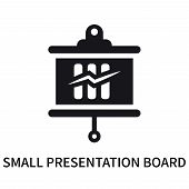 Small Presentation Board Icon Isolated On White Background. Small Presentation Board Icon Simple Sig poster