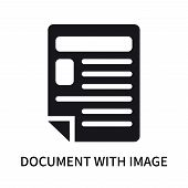 Document With Image And Content Icon Isolated On White Background. Document With Image And Content I poster