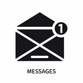 Messages Icon Isolated On White Background. Messages Icon Simple Sign. Messages Icon Trendy And Mode poster