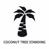Coconut Tree Standing Icon Isolated On White Background. Coconut Tree Standing Icon Simple Sign. Coc poster