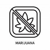 Marijuana Icon Isolated On White Background. Marijuana Icon Simple Sign. Marijuana Icon Trendy And M poster