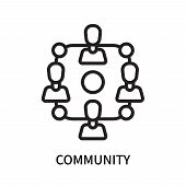 Community Icon Isolated On White Background. Community Icon Simple Sign. Community Icon Trendy And M poster