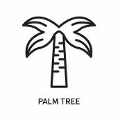 Palm Tree Icon Isolated On White Background. Palm Tree Icon Simple Sign. Palm Tree Icon Trendy And M poster