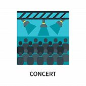 Concert Icon Isolated On White Background. Concert Icon Simple Sign. Concert Icon Trendy And Modern  poster