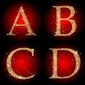 letters stars red