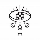 Eye Icon Isolated On White Background. Eye Icon Simple Sign. Eye Icon Trendy And Modern Symbol For G poster