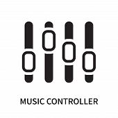 Music Controller Icon Isolated On White Background. Music Controller Icon Simple Sign. Music Control poster
