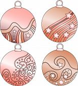 Pink vector bauble collection