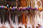 stock photo of american indian  - Indian feathers - JPG