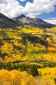 Colorful landscape of San Juan mountains in autumn