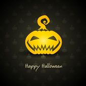 pumpkin for halloween on background vector illustration