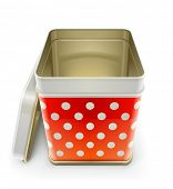 tin box with lid vector illustration isolated on white background