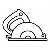 Circular Saw Icon. Outline Circular Saw Vector Icon For Web Design Isolated On White Background poster
