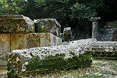 remains of a Doric temple, Mon Repos park, Corfu Town, Greece